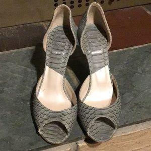 Christian Dior Open Toe Heels Size 38/7 Snakeskin